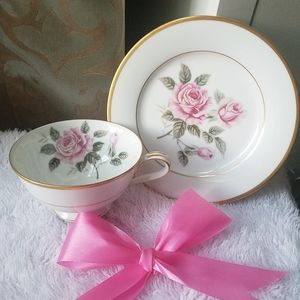 antique Noritake fine porcelain cup and saucer